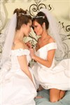Wedding day lesbian screw with Veronica Avluv and Dani Daniels
